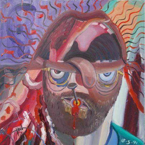 Autoritratto di paziente schizofrenico