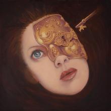 Ritratto surrealista di ragazza