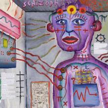 Una rappresentazione artistica dello schizofrenico